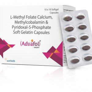 l-methyl folate calcium, methylcobalamin & pyridoxal-5-phosphate soft gelatin capsules