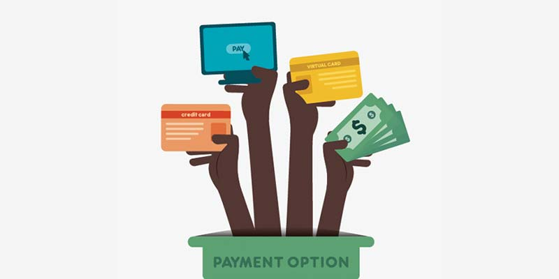 Pick from different payment options
